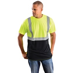 OccuNomix - Class II Black Bottom Safety Shirt - Yellow | Lime