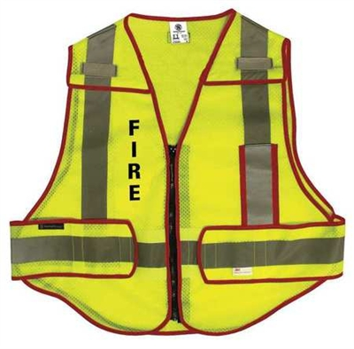Smith & Wesson Incident Command Vest - High Vis Green | Red