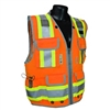 Radians - Heavy Duty Two-Tone Engineer Vest (Orange)